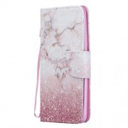 Pattern Printing PU Leather Magnetic Wallet Stand Protective Shell for Xiaomi Redmi 7 / Redmi Y3 - Marble