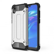 Armor Guard Plastic + TPU Hybrid Phone Cover for Huawei Y5 (2019) / Honor 8S - Silver