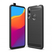 Carbon Fibre Brushed TPU Case for Huawei P Smart Z / Y9 Prime (2019) - Black