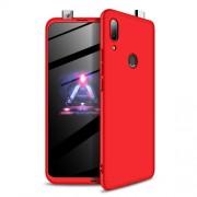 GKK 360 μοιρών Σκληρή Θήκη Ματ με Βελούδινη Υφή Πρόσοψης και Πλάτης για Huawei P Smart Z - Κόκκινο