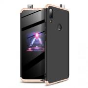 GKK 360 μοιρών Σκληρή Θήκη Ματ με Βελούδινη Υφή Πρόσοψης και Πλάτης για Huawei P Smart Z - Μαύρο / Χρυσαφί