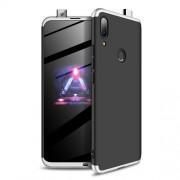 GKK 360 μοιρών Σκληρή Θήκη Ματ με Βελούδινη Υφή Πρόσοψης και Πλάτης για Huawei P Smart Z - Μαύρο / Ασημί