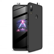 GKK 360 μοιρών Σκληρή Θήκη Ματ με Βελούδινη Υφή Πρόσοψης και Πλάτης για Huawei P Smart Z - Μαύρο