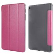 Δερμάτινη Θήκη Βιβλίο με Βάση Στήριξης (Όψη Μεταξιού) για Samsung Galaxy Tab A 8.0 Wi-Fi (2019) T290/ LTE T295 - Φούξια
