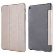 Δερμάτινη Θήκη Βιβλίο με Βάση Στήριξης (Όψη Μεταξιού) για Samsung Galaxy Tab A 8.0 Wi-Fi (2019) T290/ LTE T295 - Χρυσαφί