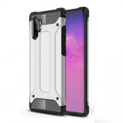 Armor Guard Plastic + TPU Combo Case for Samsung Galaxy Note 10 Plus / Note 10 Plus 5G - Silver