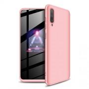 GKK 360 μοιρών Σκληρή Θήκη Ματ με Βελούδινη Υφή Πρόσοψης και Πλάτης για Samsung Galaxy A70 - Ροζέ Χρυσαφί