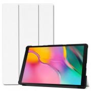 Δερμάτινη Θήκη Βιβλίο Tri-Fold με Βάση Στήριξης για Samsung Galaxy Tab A 10.1 (2019) SM-T510 / T515 - Λευκό
