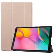 Δερμάτινη Θήκη Βιβλίο Tri-Fold με Βάση Στήριξης για Samsung Galaxy Tab A 10.1 (2019) SM-T510 / T515 - Χρυσαφί