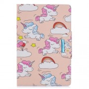 Pattern Printing Wide Clasp Stand Wallet Leather Tablet Case for Galaxy Tab A 10.1 (2019) SM-T510 / SM-T515 - Unicorns and Cloud