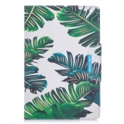 Pattern Printing Wide Clasp Stand Wallet Leather Tablet Case for Galaxy Tab A 10.1 (2019) SM-T510 / SM-T515 - Banana Leaves