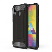 Armor Guard Plastic + TPU Hybrid Phone Cover for Samsung Galaxy M20 - Black
