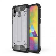 Armor Guard Plastic + TPU Hybrid Phone Cover for Samsung Galaxy M20 - Grey
