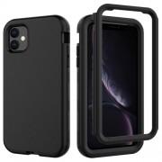 Θήκη Σιλικόνης TPU σε Συνδυασμό με Πλαστικό για iPhone 11 6.1 inch (2019) - Μαύρο