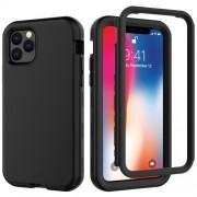 Θήκη Σιλικόνης TPU σε Συνδυασμό με Πλαστικό για iPhone 11 Pro 5.8 inch (2019) - Μαύρο