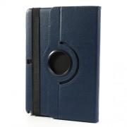 Περιστρεφόμενη Δερμάτινη Θήκη Βιβλίο με Βάση Στήριξης για Samsung Galaxy Note 10.1 (2014 Edition) SM-P600 - Σκούρο Μπλε