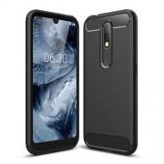 Θήκη Σιλικόνης TPU Carbon Fiber Brushed για Nokia 4.2 - Μαύρο