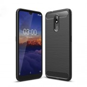 Θήκη Σιλικόνης TPU Carbon Fiber Brushed για Nokia 3.2 - Μαύρο
