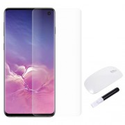 RURIHAI 3D Full Glue UV Liquid Tempered Glass Screen Protector + UV Lamp for Samsung Galaxy S10