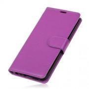 Litchi Skin PU Leather Wallet Case for Google Pixel 3a XL - Purple