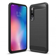 Carbon Fiber Texture Brushed TPU Phone Case Cover for Xiaomi Mi 9 SE - Black