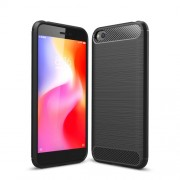 Carbon Fiber Brushed TPU Shell Case for Xiaomi Redmi Go - Black