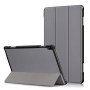 Δερμάτινη Θήκη Βιβλίο Tri-Fold με Βάση Στήριξης για Lenovo Tab P10 TB-X705F - Γκρι