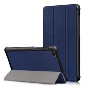 Δερμάτινη Θήκη Βιβλίο Tri-Fold με Βάση Στήριξης για Lenovo Tab E7 TB-7104F - Σκούρο Μπλε