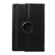 Περιστρεφόμενη Δερμάτινη Θήκη Βιβλίο με Βάση Στήριξης για Huawei MediaPad M5 lite 10 - Μαύρο