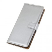 Wallet Leather Stand Case for LG G8s ThinQ - Silver