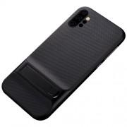 ELEGANCE Υβριδική Θήκη Σιλικόνης TPU (Πλάτη Διάφανη) σε Συνδυαμό με Πλαστικό και με Βάση Στήριξης για Samsung Galaxy Note 10 Plus - Μαύρο