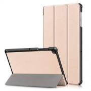 Δερμάτινη Θήκη Βιβλίο Tri-Fold με Βάση Στήριξης για Samsung Galaxy Tab S5e SM-T720 / SM-T725 - Χρυσαφί