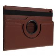 Περιστρεφόμενη Δερμάτινη Θήκη Βιβλίο με Βάση Στήριξης για Samsung Galaxy Tab S5e SM-T720 / SM-T725 - Καφέ