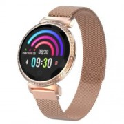 LEMONDA MC11 1.04-inch IPS Round Screen Smart Bracelet Crystal Sport Watch Female Physiological Cycle Monitor - Ροζέ Χρυσαφί