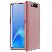 GKK 360 μοιρών Σκληρή Θήκη Ματ με Βελούδινη Υφή Πρόσοψης και Πλάτης για Samsung Galaxy A80 / A90 - Ροζέ Χρυσαφί
