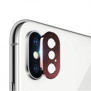 Camera Lens Protector Metal Cover for iPhone X/XS 5.8 inch - Red