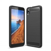 Carbon Fiber Brushed TPU Case for Xiaomi Redmi 7A - Black