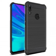 IMAK Vega Carbon Fiber Texture Brushed TPU Phone Case for Huawei P Smart Z - Black