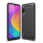 Carbon Fiber Texture Brushed TPU Case Accessory for Xiaomi Mi CC9e / Mi A3 - Black