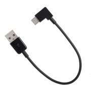 90 Degree Right Angled USB 3.1 Type C Male USB-C to USB 2.0 Male Cable for Tablet and Mobile Phone - Black