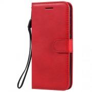 Δερμάτινη Θήκη Πορτοφόλι με Βάση Στήριξης (Όψη Vintage) για Nokia 4.2 - Κόκκινο