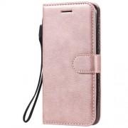 Δερμάτινη Θήκη Πορτοφόλι με Βάση Στήριξης (Όψη Vintage) για Nokia 4.2 - Ροζέ Χρυσαφί