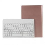 Δερμάτινη Θήκη Βιβλίο με Ασύρματο Πληκτρολόγιο για Samsung Galaxy Tab A 10.1 (2019) T510/T515 - Ροζέ Χρυσαφί