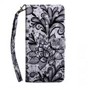 Pattern Printing Light Spot Decor Leather Wallet Phone Case for Xiaomi Redmi K20/Mi 9T/Redmi K20 Pro/Mi 9T Pro - Lace Flower