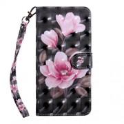 Pattern Printing Light Spot Decor Leather Wallet Phone Case for Xiaomi Redmi K20/Mi 9T/Redmi K20 Pro/Mi 9T Pro - Pink Flowers