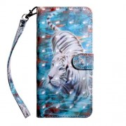 Pattern Printing Light Spot Decor Leather Wallet Phone Case for Xiaomi Redmi K20/Mi 9T/Redmi K20 Pro/Mi 9T Pro - Tiger