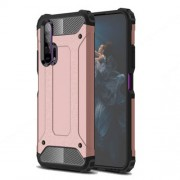 Armor Guard Plastic + TPU Hybrid Case for Huawei Honor 20 Pro - Rose Gold