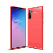 Carbon Fibre Brushed TPU Case for Samsung Galaxy Note 10/Note 10 5G - Red