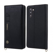 CMAI2 Δερμάτινη Θήκη Πορτοφόλι με Βάση Στήριξης με Θέση Στυλό Αφής για Samsung Galaxy Note 10 - Μαύρο