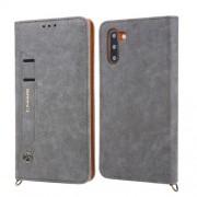 CMAI2 Δερμάτινη Θήκη Πορτοφόλι με Βάση Στήριξης με Θέση Στυλό Αφής για Samsung Galaxy Note 10 - Γκρι